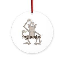 Stage Monkey Ornament (Round)
