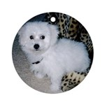 SNICKY PUPPY FACE ORNAMENT (ROUND)