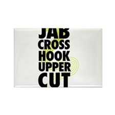 Jab Cross Hook Upper-cut Rectangle Magnet