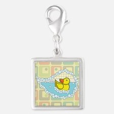 Chaucer Silver Square Charm