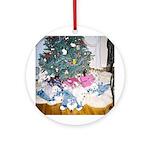CHRISTMAS BICHONS ORNAMENT (ROUND)