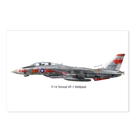 F-14 Tomcat VF-1 Wolfpack Postcards (Package of 8)