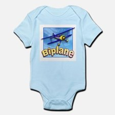 Yellow and Blue Biplane Infant Bodysuit