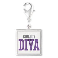 Biology DIVA Silver Square Charm