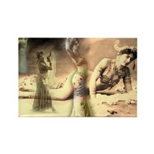 Mata Hari Collage Rectangle Magnet