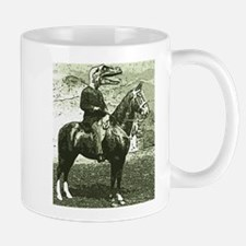 dinosaur man on horse Mug