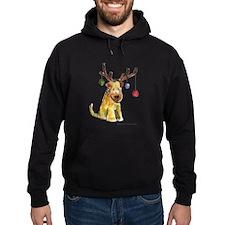 Wheaten terrier with Christmas Antlers Hoodie
