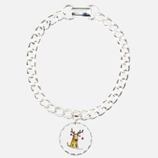 Wheaten terrier with Christmas Antlers Bracelet