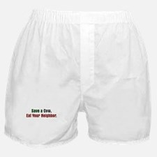 Save Cow Eat Neighbor Boxer Shorts