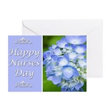 Happy Nurses Day With Blue Hydrangeas Greeting Car