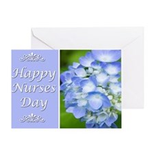 Happy Nurses Day With Blue Hydrangeas Greeting Car