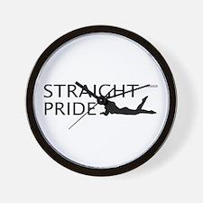 Straight Pride (Sexy Version) Wall Clock