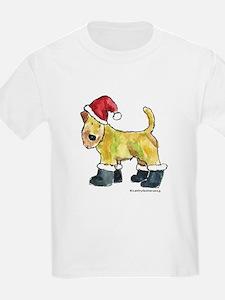 Wheaten terrier playing Santa T-Shirt