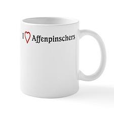 I Heart Affenpinschers Mug