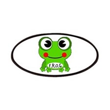 Cute Cartoon Frog Fully Rely On God Patch
