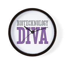 Biotechnology DIVA Wall Clock