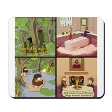Surreality TV Duck Dining Sir Mousepad