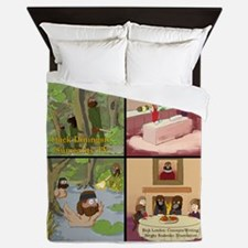 Surreality TV Duck Dining Sir Queen Duvet