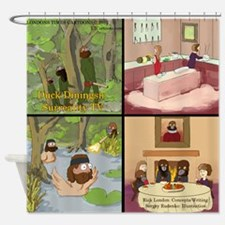 Surreality TV Duck Dining Sir Shower Curtain
