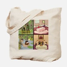Surreality TV Duck Dining Sir Tote Bag