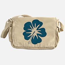 Blue Hibiscus Messenger Bag