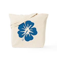 Blue Hibiscus Tote Bag