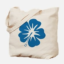 Blue Hibiscus Tote Bag