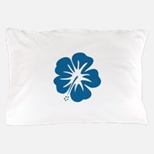 Blue Hibiscus Pillow Case