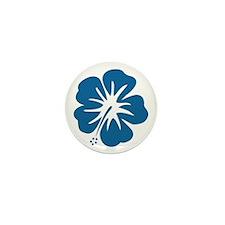 Blue Hibiscus Mini Button