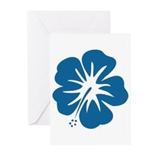 Blue Hibiscus Greeting Cards (Pk of 20)