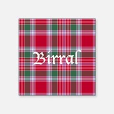 "Tartan - Birral Square Sticker 3"" x 3"""