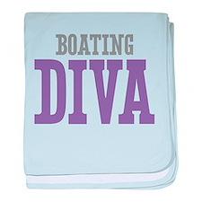 Boating DIVA baby blanket