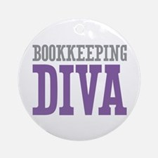 Bookkeeping DIVA Ornament (Round)
