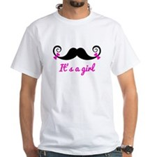 it's a girl design, curly mustache with pink bows