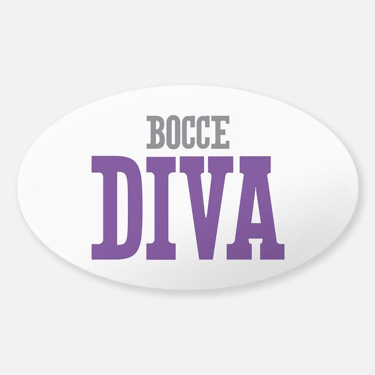 Bocce DIVA Sticker (Oval)