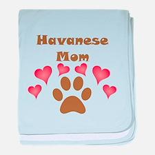 Havanese Mom baby blanket