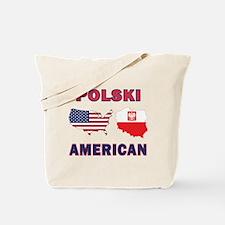 Polski American Pride Map Tote Bag