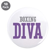 """Boxing DIVA 3.5"""" Button (10 pack)"""
