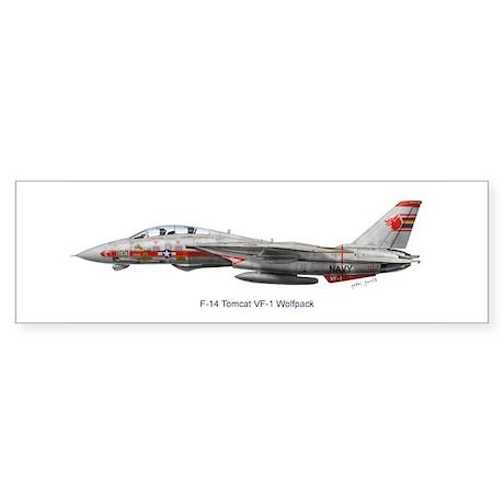 F-14 Tomcat VF-1 Wolfpack Bumper Sticker