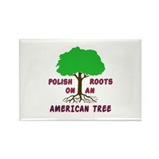Polish American Roots Rectangle Magnet