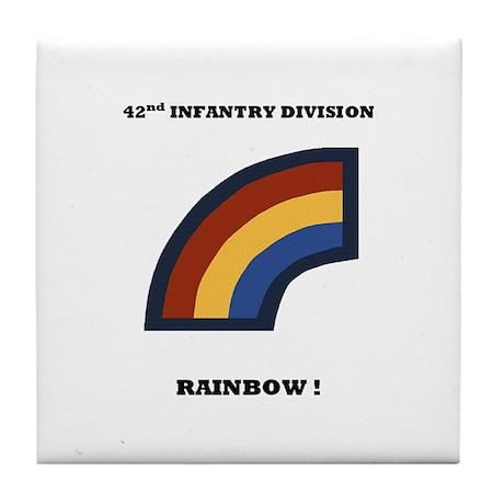 42 Infantry Division Tile Coaster