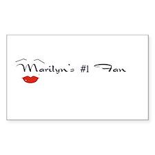 Marilyn's #1 Fan Rectangle Decal
