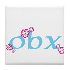obx, outer banks, nc Tile Coaster