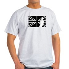 Geordie Fingers Ash Grey T-Shirt