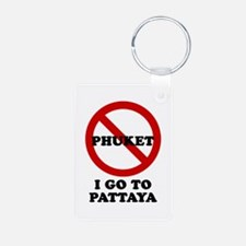 I GO TO PATTAYA Keychains