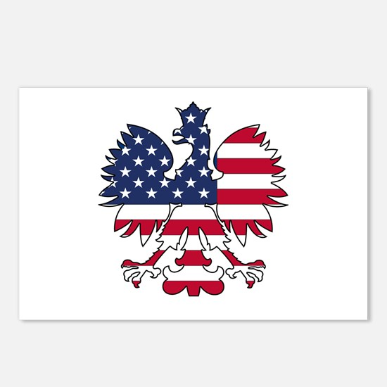 Polish American Eagle Postcards (Package of 8)