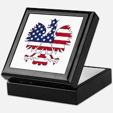 Polish American Eagle Keepsake Box