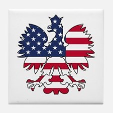 Polish American Eagle Tile Coaster