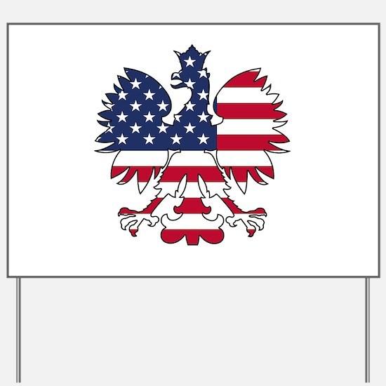 Polish American Eagle Yard Sign