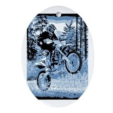 """""""Fun in the Woods"""" (Blue) Ornament (Oval)"""